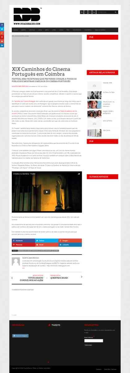 XIX Caminhos do Cinema Português em Coimbra | ruadebaixo.com