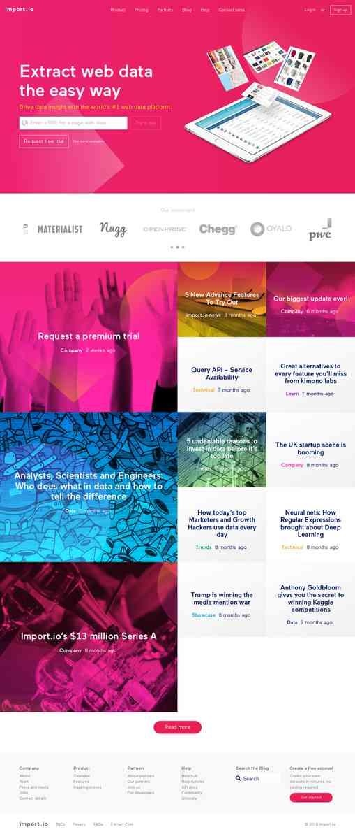 Import.io| Web Data Platform & Free Web Scraping Tool