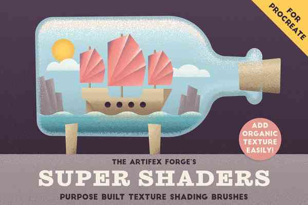 Super Shaders. Procreate Brushes