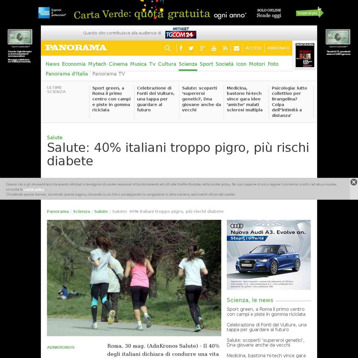Salute: 40% italiani troppo pigro, più rischi diabete - Panorama - 30/05/2016