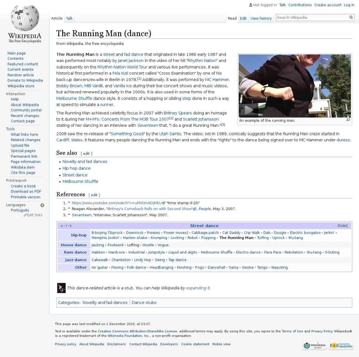 The Running Man (dance) - Wikipedia