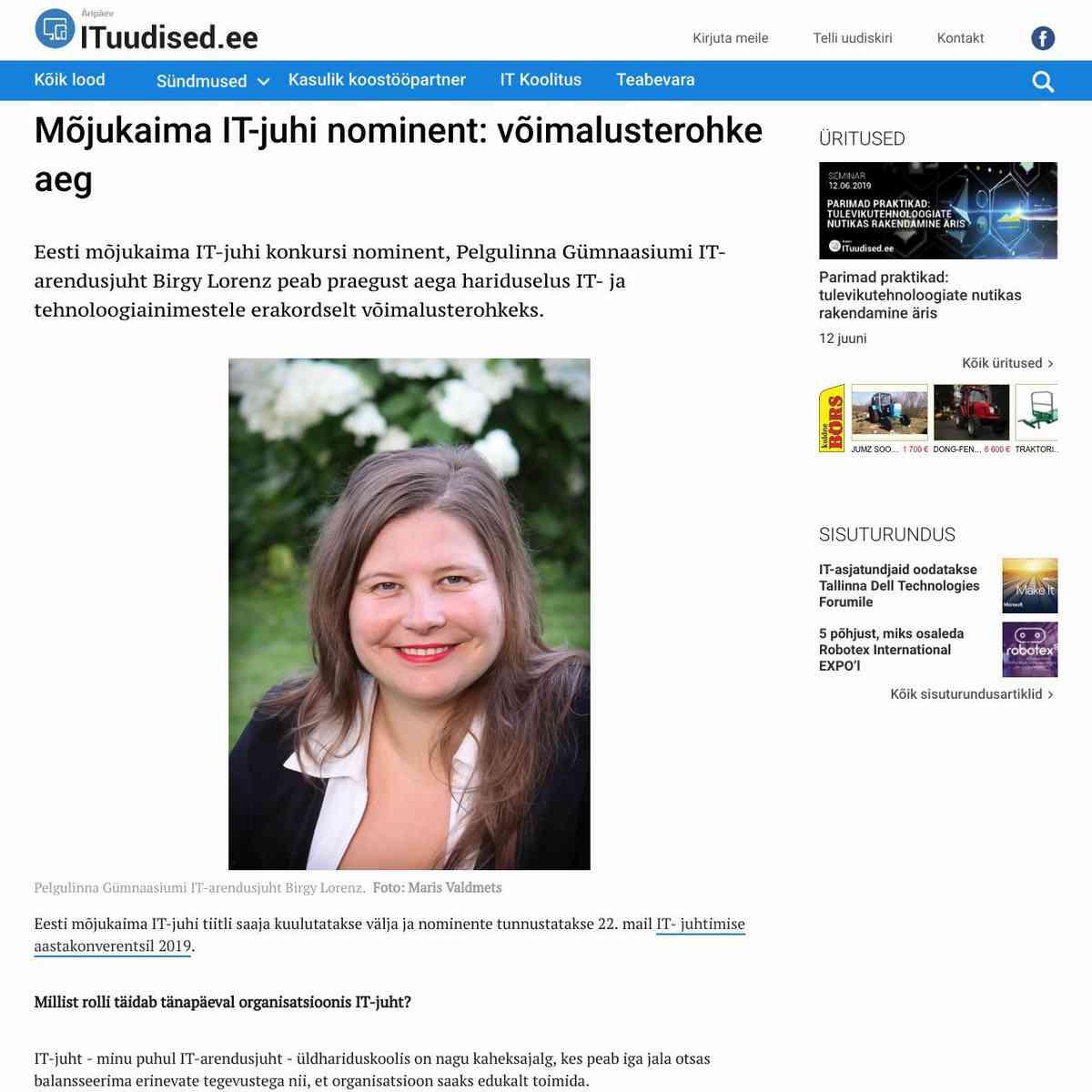 Mõjukaima IT-juhi nominent: võimalusterohke aeg