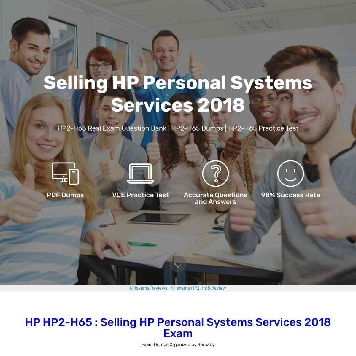 100% valid and up to date HP2-H65 Questions and Answers and valid answers