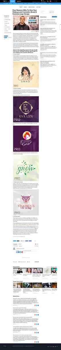 Four Reasons Why To Give Your Makeup and Cosmetics Brand A Feminine Logo Design