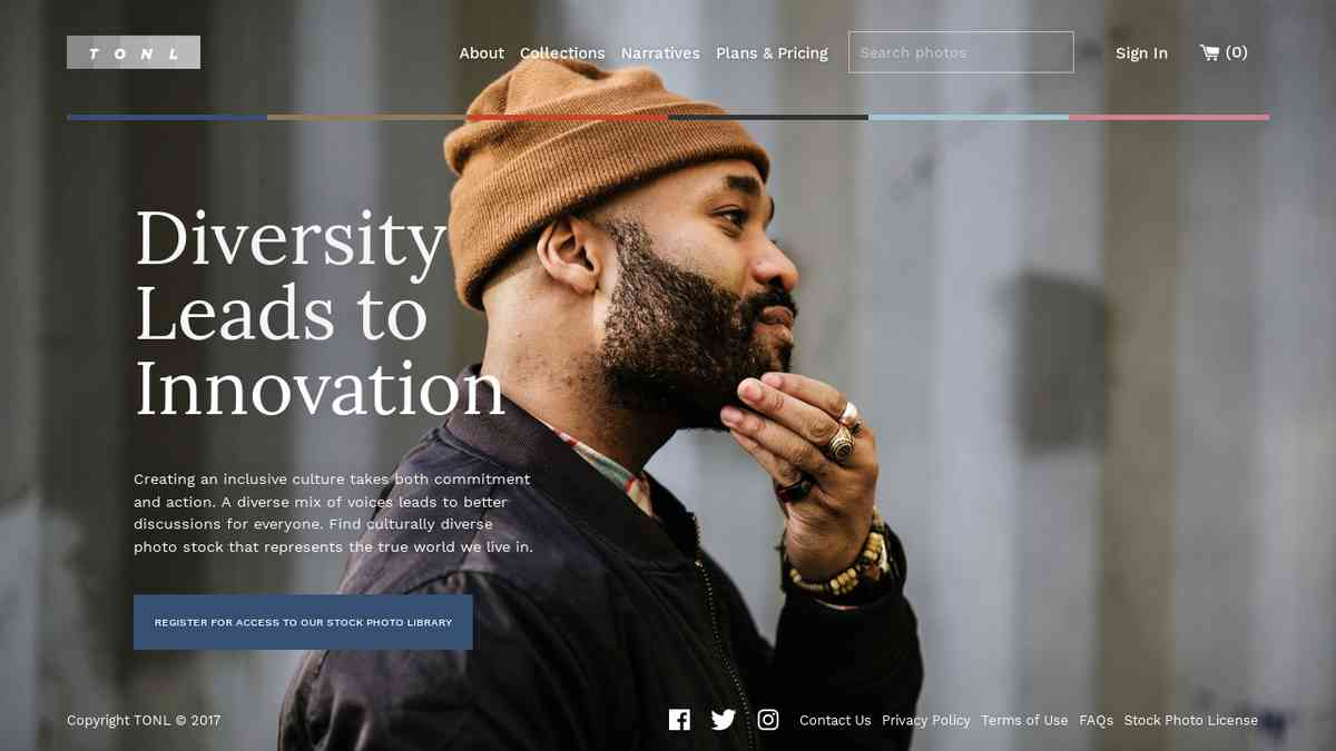 TONL - Diversity Leads to Innovation. Stock photos of PoC