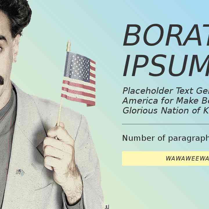 Borat Ipsum