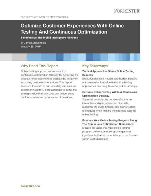 Online-CX-Testing-Optimization
