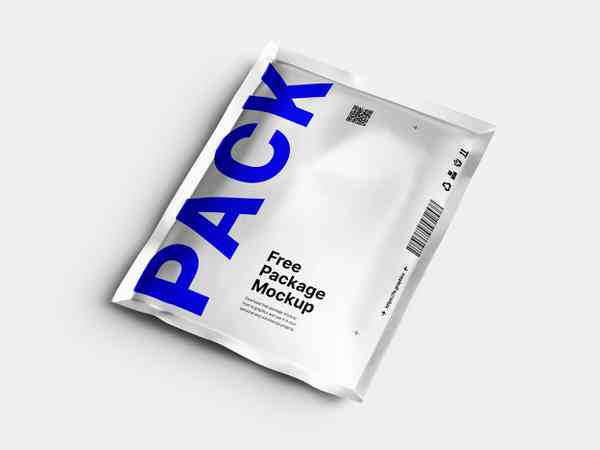 Aluminum Pouch Package Mockup