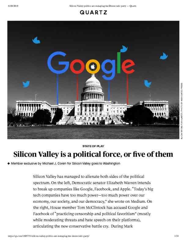 Silicon Valley politics are reshaping the Democratic party — Quartz