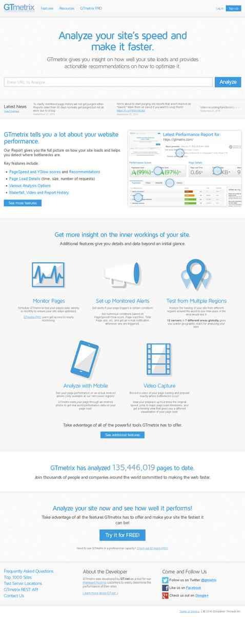 GTmetrix | Website Speed and Performance Optimization