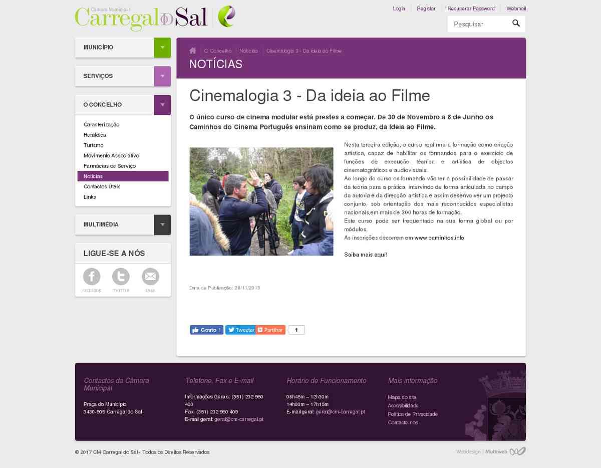 Cinemalogia 3 - Da ideia ao Filme   Carregal Digital