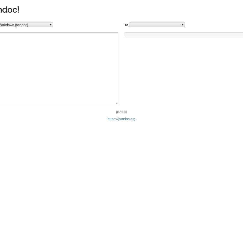 PanDoc LaTeX to HTML5 converter