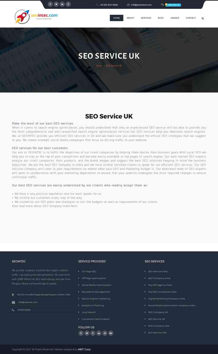 Best SEO Service Provider in UK