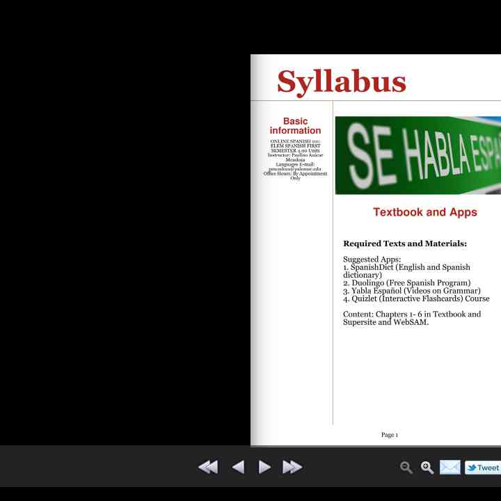 Magz Spanish 101 Syllabus