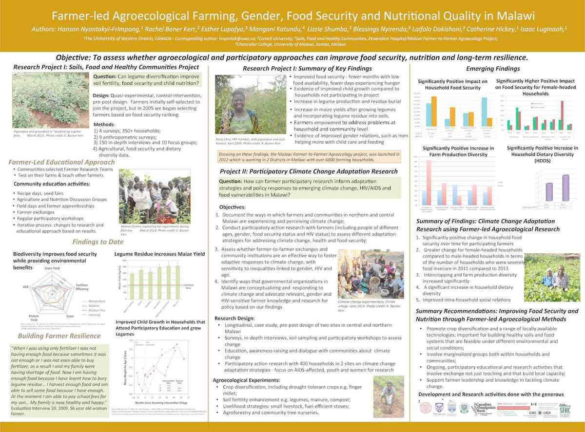 Hanson, et al (2015) Farmer-led agroecological farming in Malawi - NHG Conf