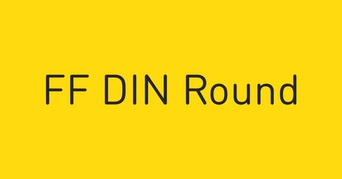 FF DIN Round Font | FontShop