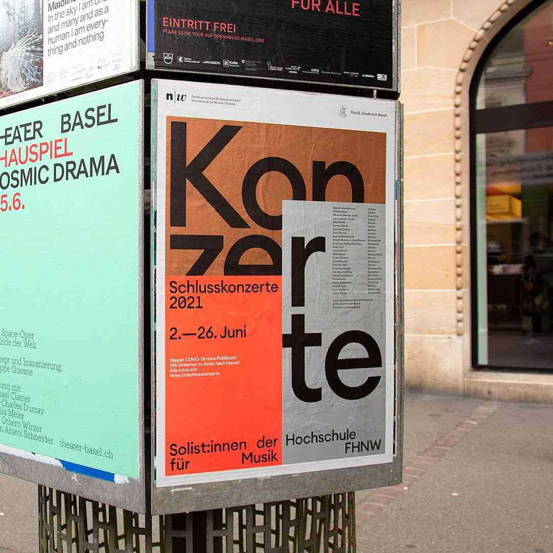 Poster for the Academy of Music, Klassik