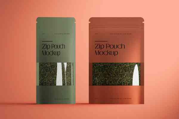 $ Zip Pouch Mockup
