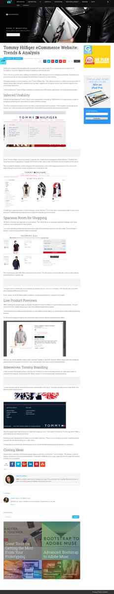 Tommy Hilfiger eCommerce Website: Trends & Analysis