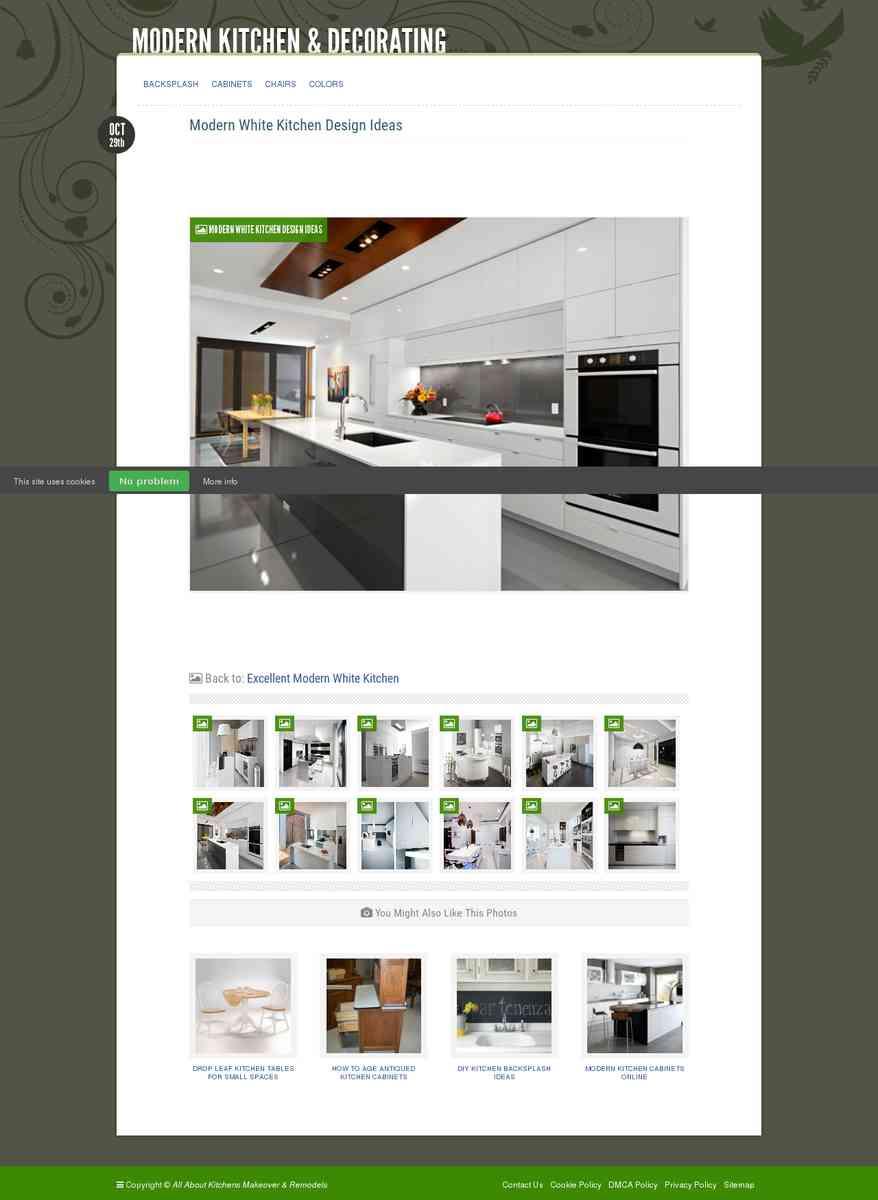 Modern White Kitchen Design Ideas : Excellent Modern White Kitchen – Modern Kitchen & Decorating
