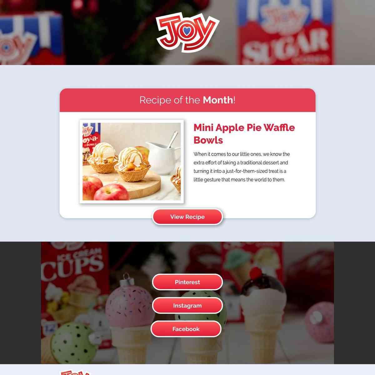 JoyCone Ads Landing Page