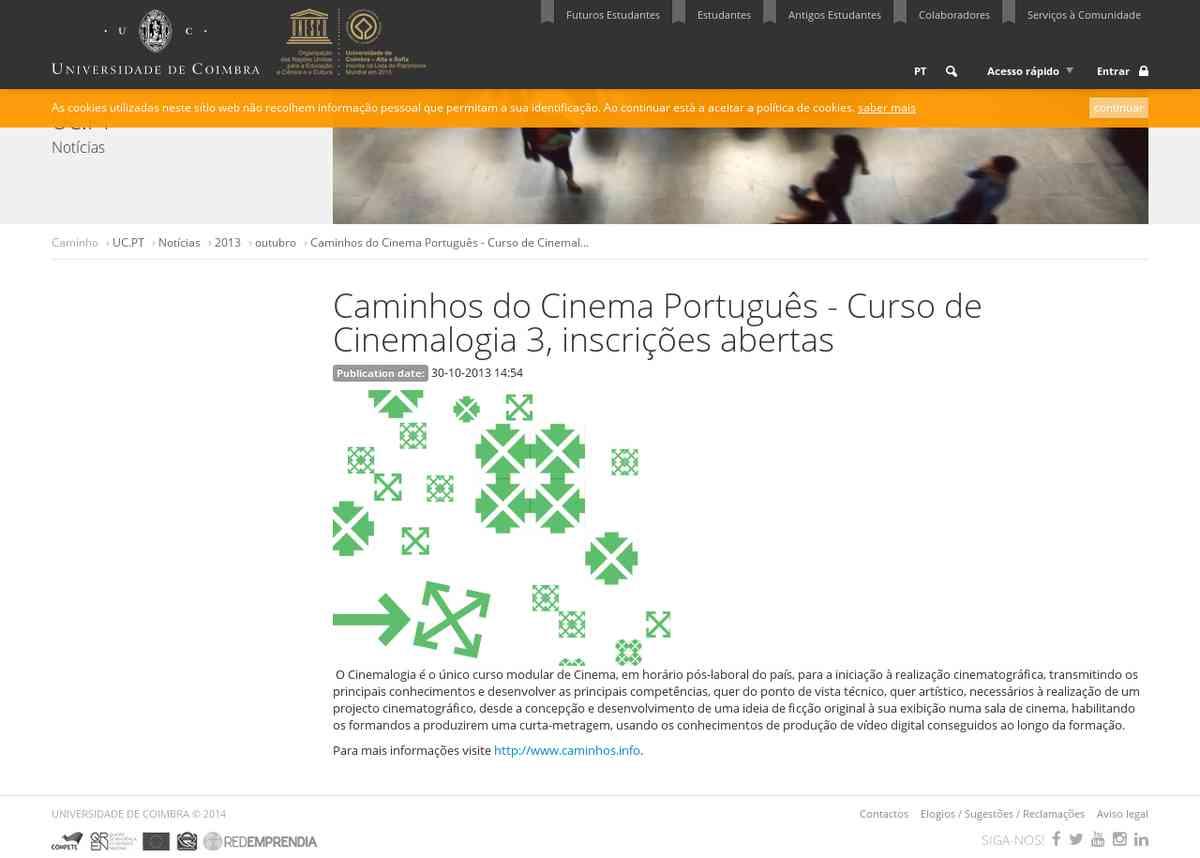 Caminhos do Cinema Português - Curso de Cinemalogia 3, inscrições abertas | Universidade de Coim…