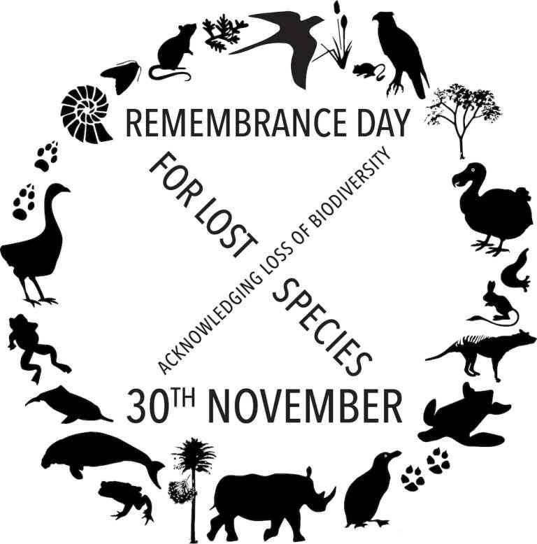 Lost Species Day - November 30