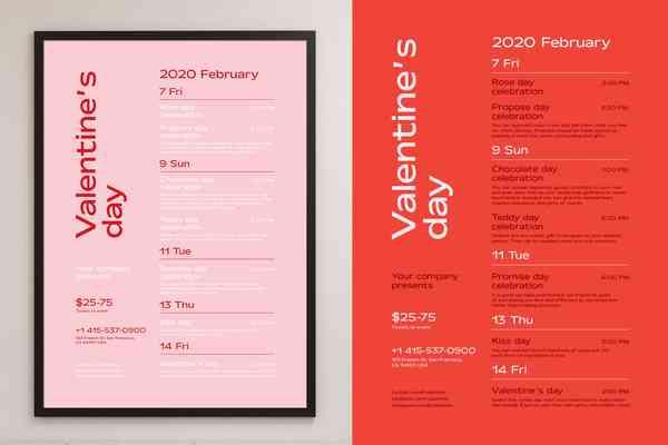 $ Valentine's Day Poster