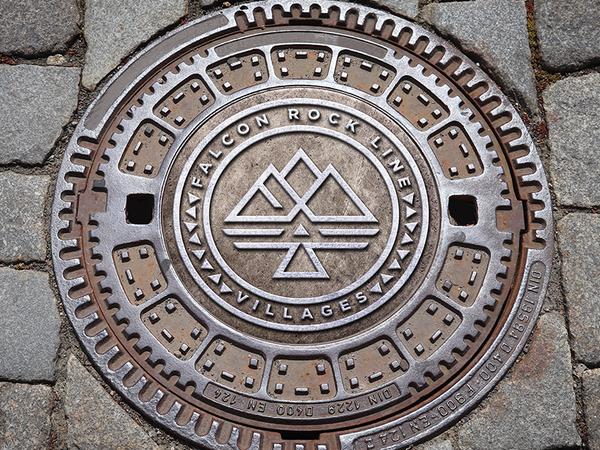 Falcon Rock Line Villages Manhole Cover