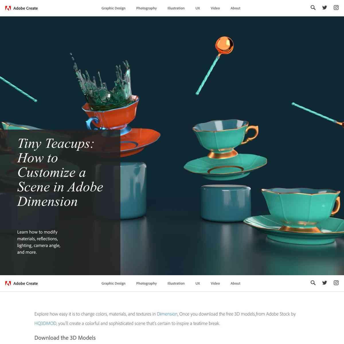 Customize a Scene in Adobe Dimension   Create