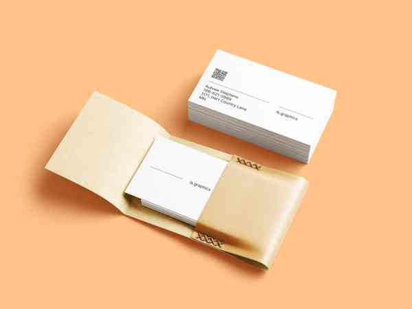 Business Cards & Leather Card Holder PSD Mockup
