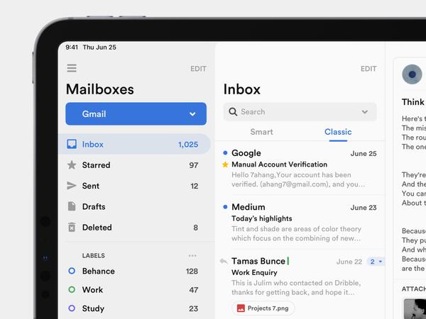 Mailbox Concept Application