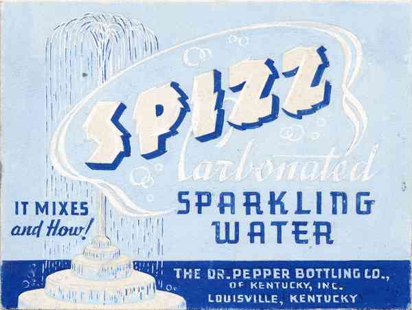 Spizz, Carbonated Sparkling Water label by Lehmann Printing and Lithography Company