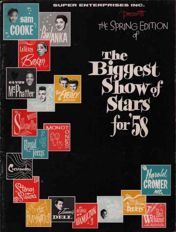 SAM COOKE / PAUL ANKA 1958 THE BIGGEST SHOW OF STARS SPRING TOUR PROGRAM BOOK | eBay