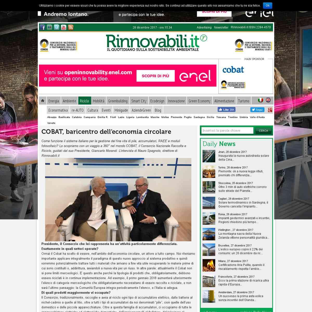 Cobat, Giancarlo Morandi: siamo preparati al boom dell'eMobility