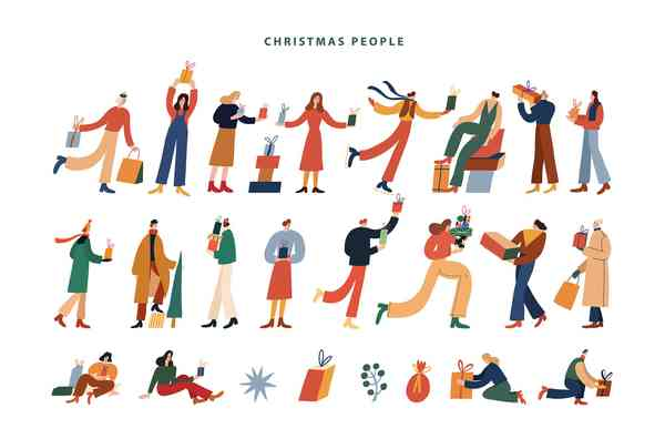 Hand Drawn Christmas Collection | People