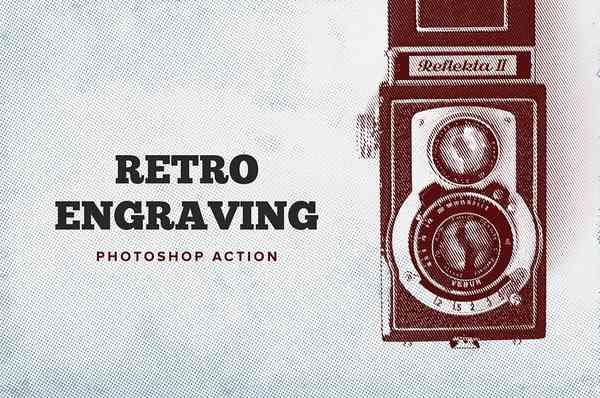 Retro Engraving. Photoshop action