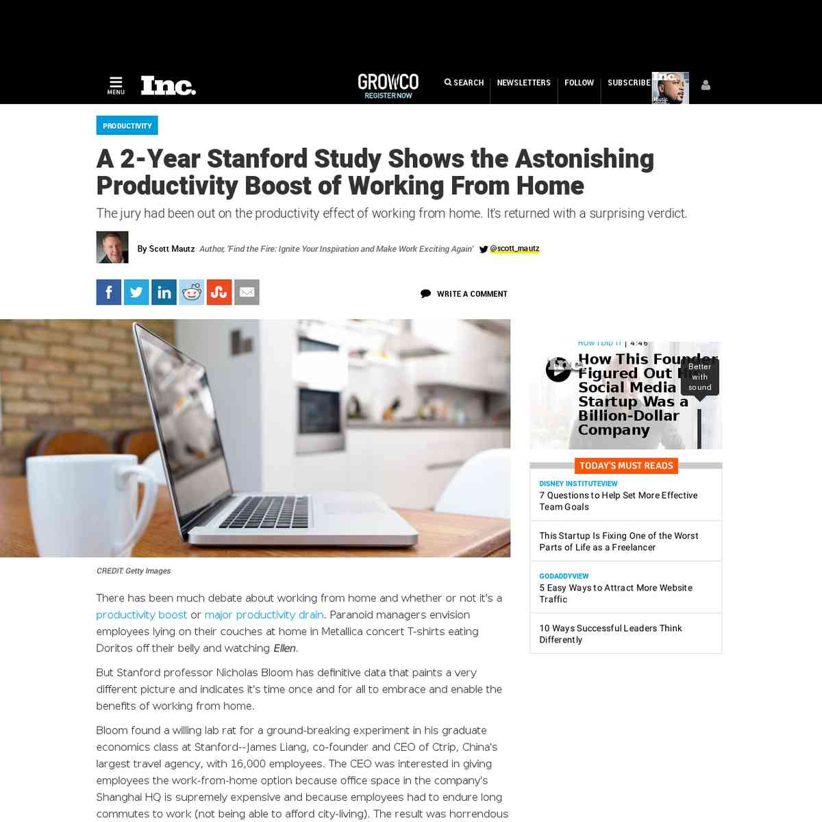 A 2-Year Stanford Study Shows the Astonishing Productivity Boost of Working From Home   Inc.com