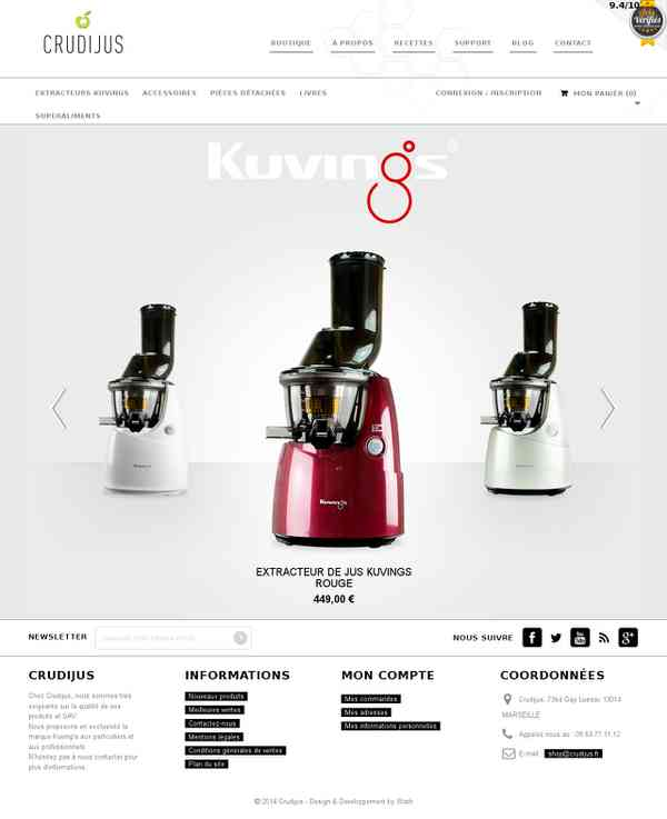 Extracteur de Jus Kuvings - Boutique officielle - Crudijus