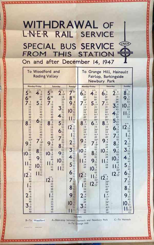 Bus Service Schedule