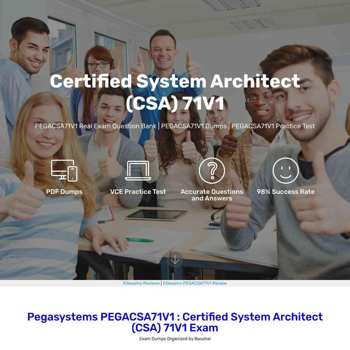 PEGACSA71V1 Cheatsheet are totally changed by Pegasystems