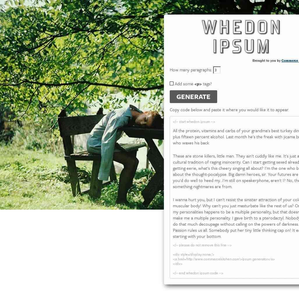Whedon Ipsum