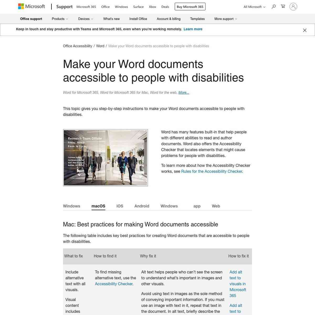 Make your Word documents accessible