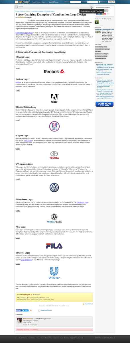 8 Awe-Inspiring Examples of Combination Logo Design
