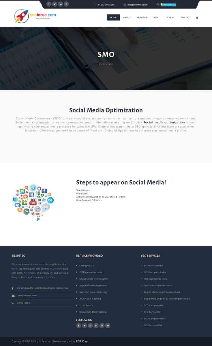 Social Media Optimization Company in India