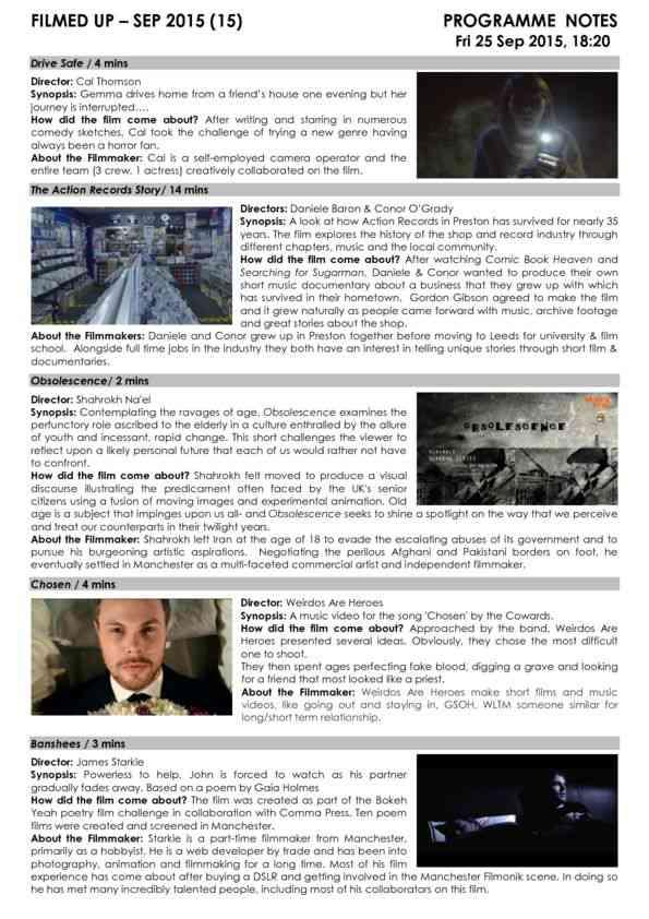 Programme Notes - Filmed Up Sep 15