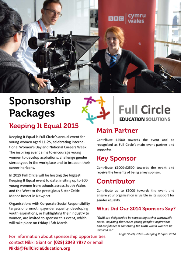 Keeping It Equal Event 2015 - Sponsorship Packages