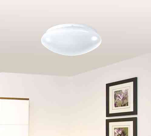Lampe murale / plafonnier à led avec capteur de mouvements | Pearl.fr