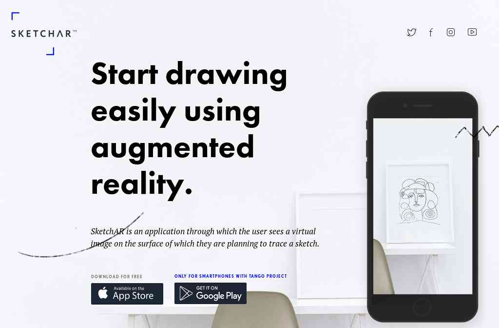 SketchAR. Start drawing easily using augmented reality