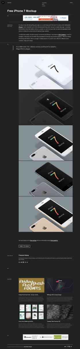 Free iPhone 7 Mockup | Abduzeedo